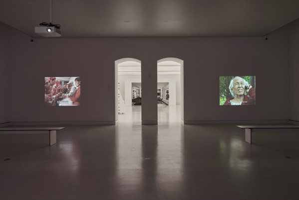 Installation view room 3: Cao Fei: Father, 2005; Cao Dan: My Father's Journey, 2008