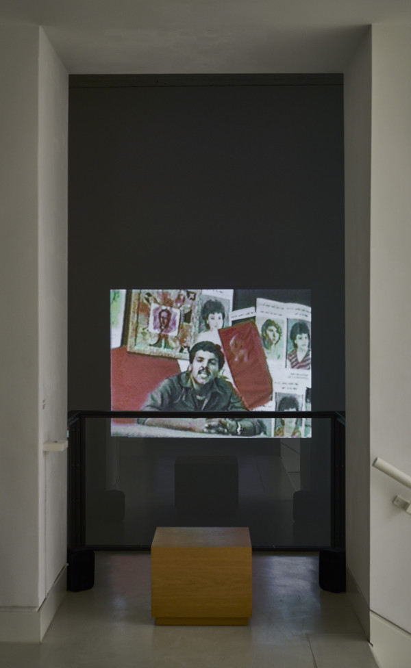 Installationsansicht Alter Turm: Rabih Mroué: On Three Posters, 2008